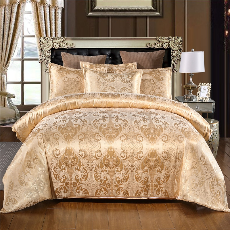 Warmsliving Luxury Jacquard Bedding Set Single Queen King Size Bed