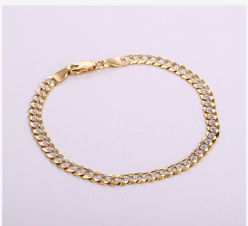 18k Pure Gold Bracelet Real Au 750