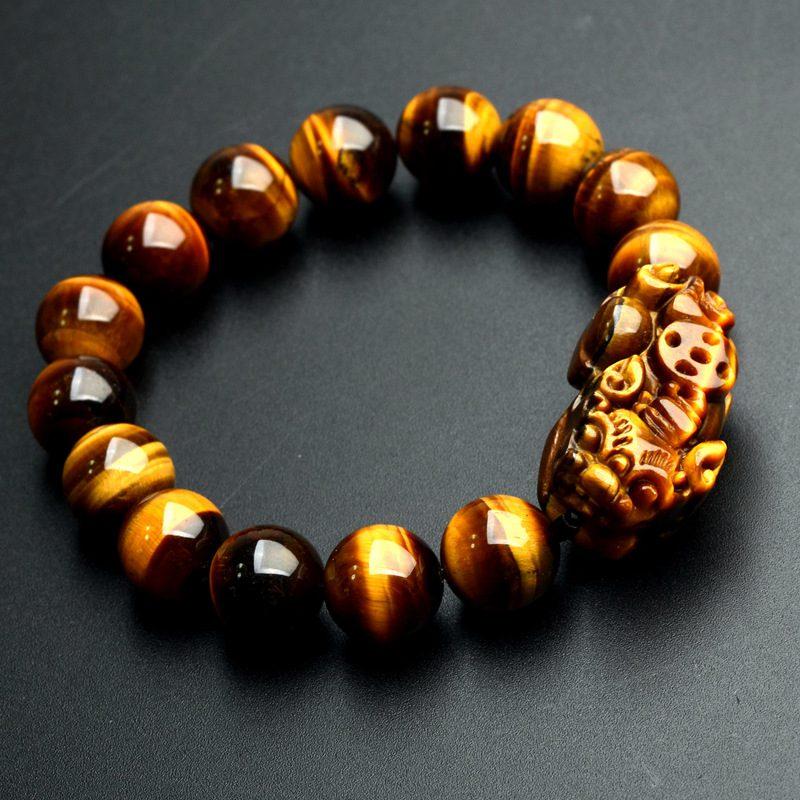 Yellow Tiger Eye Stone Bracelets 12mm