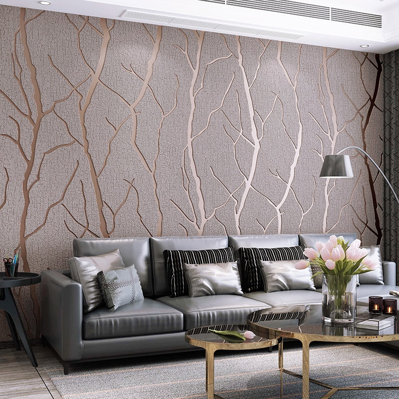 Modern Simple Line Deerskin Wallpaper Thickened Non Woven Fabric Bedroom Living Room Background Wall 3d Wallpaper W152 Inoava Com