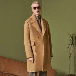 Men's coat windbreaker autumn and winter new youth European and American camel large size mid-length thick coat Men Men Casual Jackets Men Wool Coat Outwear & Jackets Winter Jacket cb5feb1b7314637725a2e7: Black|camel