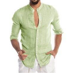 Men's New Summer Casual Cotton Linen Long Sleeve Button Down Shirt For Man Casual Shirts Cotton Shirts Dress Shirts Long Sleeve Men Print Shirts Shirts & Tops Slim Fit Summer Shirts T-Shirts cb5feb1b7314637725a2e7: Army Green|Beige|Black|Blue|Gray|Green|light green|Pink|Red|Sky blue|White|Yellow