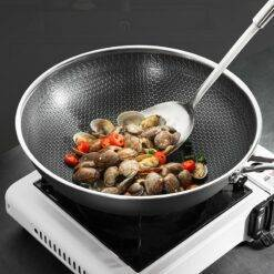 Kitchen Wok Non Stick Pan Fried Steak Cooking Tools 316 Stainless Steel Frying Pan Induction Cooker Gas Stove General Cookware Home & Garden Home Garden & Appliance Kitchen, Dining & Bar Non Stick Cookware Non Stick Cookware Non Stick Frying Pan cb5feb1b7314637725a2e7: stainless steel wok