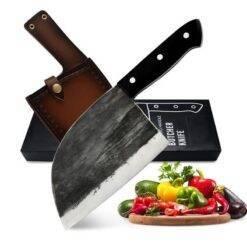 Kitchen Knife Bone Chopper Full Knife Handmade Forged Tang Handle Butcher High Carbon Steel Chef Knives Gift Butcher Knife Chef Knife Chopper Home & Garden Home Garden & Appliance Kitchen Knives & Accessories Kitchen, Dining & Bar cb5feb1b7314637725a2e7: Black