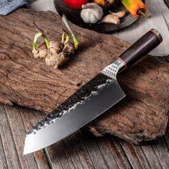 Chef Knife Handmade Forged Kiritsuke Kitchen Knife Stainless Steel Knife for Meat Fruit Fish Vegetables Butcher Knife Butcher Knife Chef Knife Chopper Home & Garden Home Garden & Appliance Kitchen Knives & Accessories Kitchen, Dining & Bar Meat Cleaver Multifunctional Knife cb5feb1b7314637725a2e7: 7.8inch forged knife|7inch kitchen knife|7inch laser pattern|Knife Whetstone