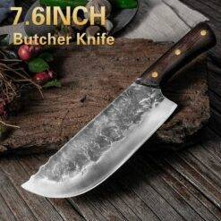 7.6inch Handmade Forged Kitchen Knife Butcher Meat Chopping Cleaver Chinese Chef Knife 5CR15 Stainless Steel Butcher Knife Chef Knife Chopper Home & Garden Home Garden & Appliance Kitchen Knives & Accessories Kitchen, Dining & Bar Meat Cleaver Multifunctional Knife cb5feb1b7314637725a2e7: Butcher Knife|Chef Knife|Forged Knife|Kitchen Knife|Knife Sharpener|Slicing knife