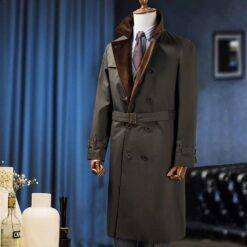 Men's Winter Warm Coat Solid Fur Collar Double-Breasted V-Sleeve Long British Style Overcoat Casual Fashion Handsome Jacket Men Men Casual Jackets Men Parka Jackets Outwear & Jackets cb5feb1b7314637725a2e7: PIC