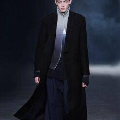 Men's woolen coat winter big-name new coat long business casual woolen coat Men Men Casual Jackets Men Long Coat Men Wool Coat Outwear & Jackets Trench Coat cb5feb1b7314637725a2e7: Black|Blue