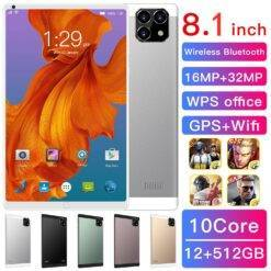 8.1 inch tablet,equipped with Android 9.0,octa-core processor,Google Play,GPS and WIFI phone,8 inch tempered glass,brand new Computer, Office, Security d92a8333dd3ccb895cc65f: AU Plug|EU Plug|UK Plug|US Plug