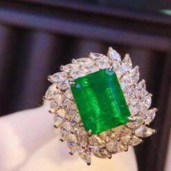100% 14k Solid White Gold 3.0ct Natural Emerald Gemstones Side Stone 1.862ct Real Diamond Rings for Women Fine Jewelry Jewelry and Watches 2ced06a52b7c24e002d45d: 4 4.5 5 5.5 6 6.5 7 7.5 8 8.5 9 9.5