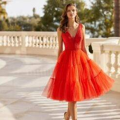 Charming Hot Sale 2021 Orange Short Prom Party Dresses Knee Length Sleeveless V Neckline Wedding Guest Gowns Lace Back Out Dresses Women cb5feb1b7314637725a2e7: Black|Blue|Champagne|Gold|Gray|Green|Ivory|Photo color|Pink|Purple|Red|Silver|White|Yellow