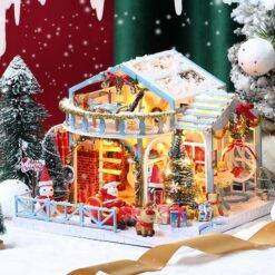 Diy Dollhouse Miniature Kit Building Model Christmas House Birthday Gift Toys For Children Wooden Doll House Furniture For Adult Craft & Arts Supplies cb5feb1b7314637725a2e7: A|B|C|D|E|F|G|H|I|J|K|L|M|N|O|P|Q|R|S|T|U