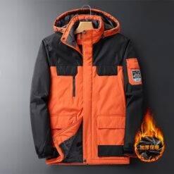 Men's Large Size Jacket Winter 2021 Outerwear Oversize Coat Fleece Down Warm Parka Male 9XL Big 8XL Hooded Waterproof Jacket Men Men cb5feb1b7314637725a2e7: Black|Blue|Dark Grey|Green|Ivory|Orange