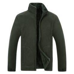 Men's Winter Demi-season Jacket Soft Fleece Warm 2021 Autumn Windproof Thick Thermal Men Windbreaker Black Coats Bomber Male Men cb5feb1b7314637725a2e7: Army Green|Black|Burgundy|Gray|Navy Blue
