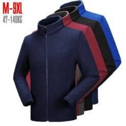 10xl 8xl 9xl 7xl 6xl Men's Fleece Jacket Large Size Big and Tall Men Clothing Jacket Liner Autumn Spring Cardigan Plus Coat Male Men cb5feb1b7314637725a2e7: Black|Blue|Navy Blue|Wine Red