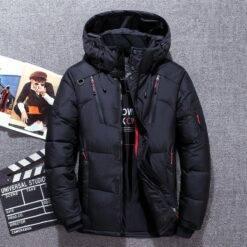 Down Parka Jacket Men -30 Degree Winter Thick Warm White Duck Down Jackets Hooded Windbreaker Parkas Hombre Coat Oversized M-4XL Men cb5feb1b7314637725a2e7: Army Green|Black|Blue|Gray|Orange