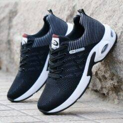 Running Shoes Summer 2021 New Men's Outdoor Breathable Sports Shoes Non-Slip Lace-Up Shoes Brand Men Sneakers Fitness Shoes 8807 Bags and Shoes cb5feb1b7314637725a2e7: 8807 blue 8807black gray 8807black red