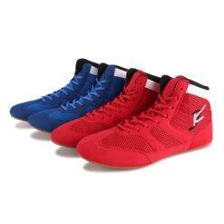 2020 Men Boxing Shoes Wrestling Shoes Rubber Outsole Breathable Male Ultra Light Sports Shoes for Wrestling Plus Size 35-46 Bags and Shoes cb5feb1b7314637725a2e7: Blue Red
